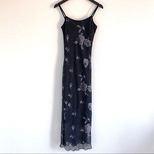 Vintage 90's Floral Bias Cut Dress